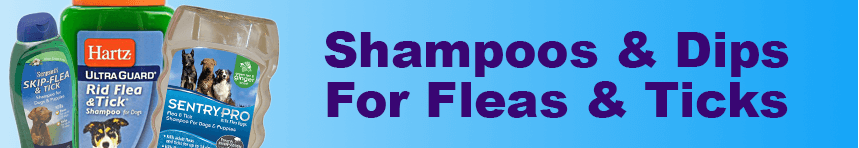 Flea and Tick Shampoo's and Dips